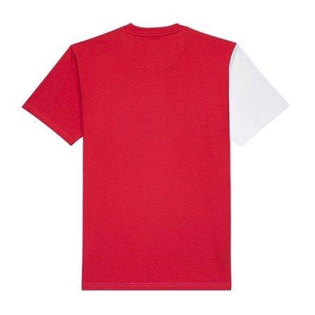 KOSZULKA PROSTO T-SHIRT CIAH WHITE/RED