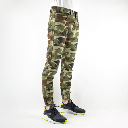 SPODNIE JOGGER FIT PANTS MASS DENIM BASE WOODLAND CAMO